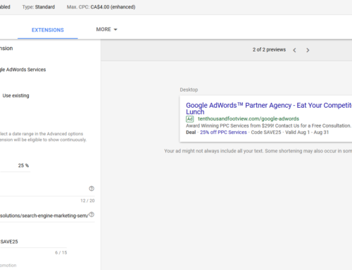 how to add promotion extension in adwords